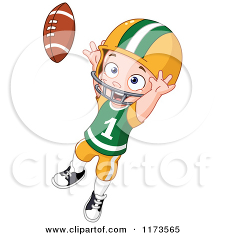 Cartoon of jumping to. A boy cathcing a clipart