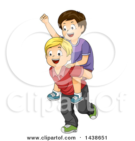 Royalty free rf piggy. A boy giving a ball to a boy clipart