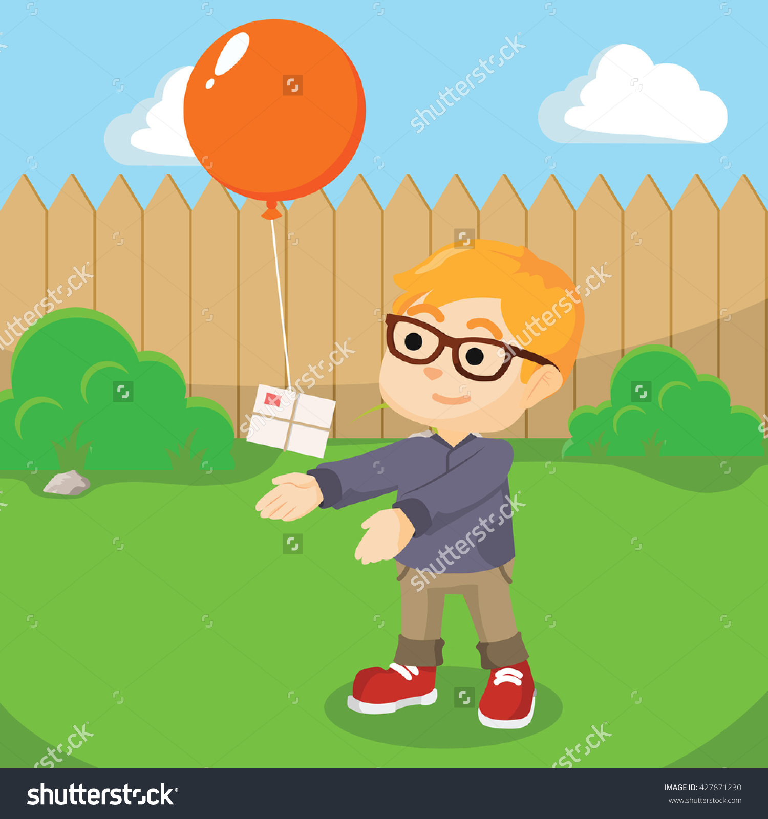 Boy Giving Gift Balloon Stock Photo 427871230 : Shutterstock image library library