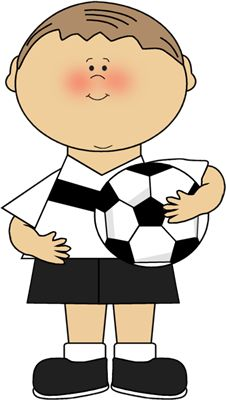 A boy giving a ball to a boy clipart. Kids playing soccer free