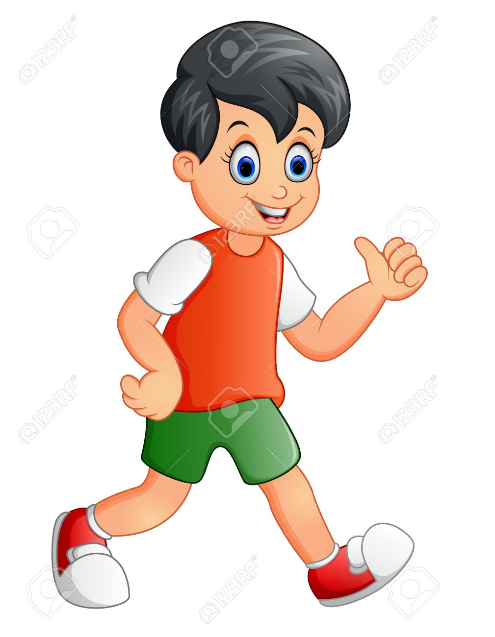 Cute Boy Cartoon Giving Thumb Up Royalty Free Cliparts, Vectors ... clip art free