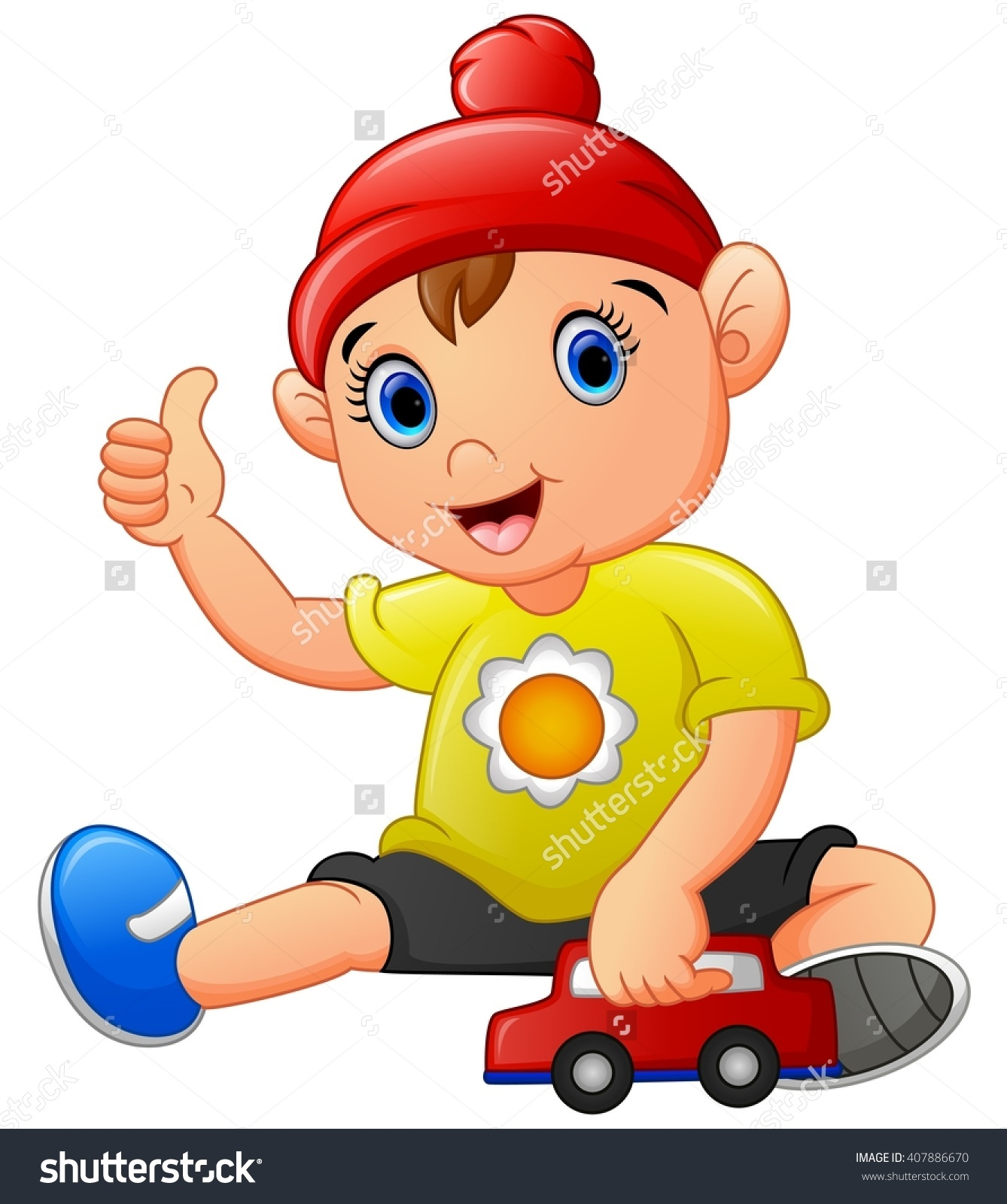 Cartoon Little Boy Giving Thumb Up Stock Photo 407886670 ... clip library download