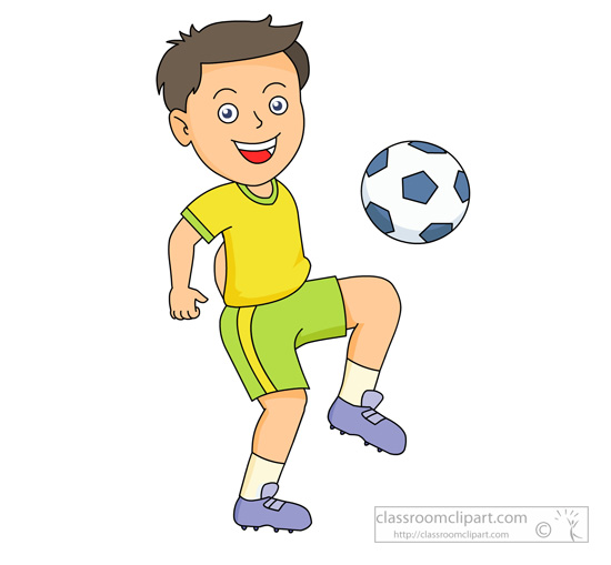A boy giving a ball to a boy clipart. Clipartfest playing soccer