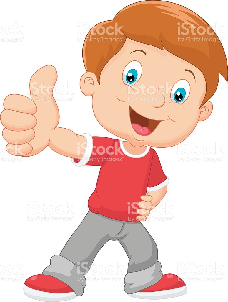 A boy giving a ball to a boy clipart. Cartoon little thumbs up