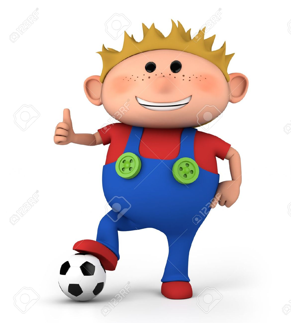 Cute Little Boy With Soccer Ball Giving Thumbs Up - High Quality ... clip black and white