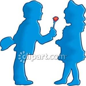 A boy giving a flower to a girl clipart image freeuse A boy giving a flower to a girl clipart - ClipartFest image freeuse