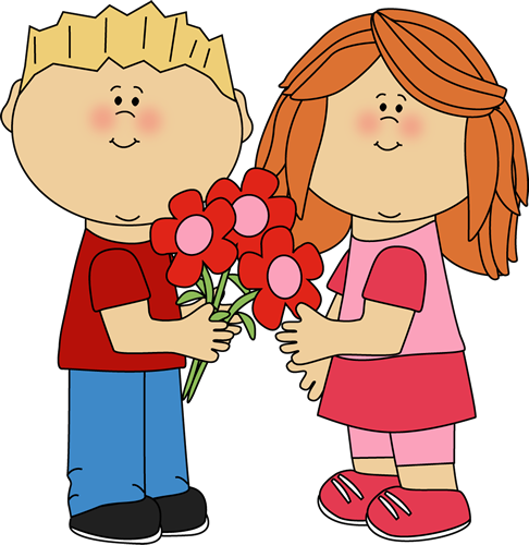 A boy giving a flower to a girl clipart vector library library Clipart giving flowers - ClipartFest vector library library