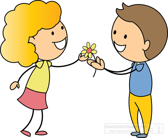 A boy giving a flower to a girl clipart image transparent stock A boy giving a flower to a girl clipart - ClipartFest image transparent stock