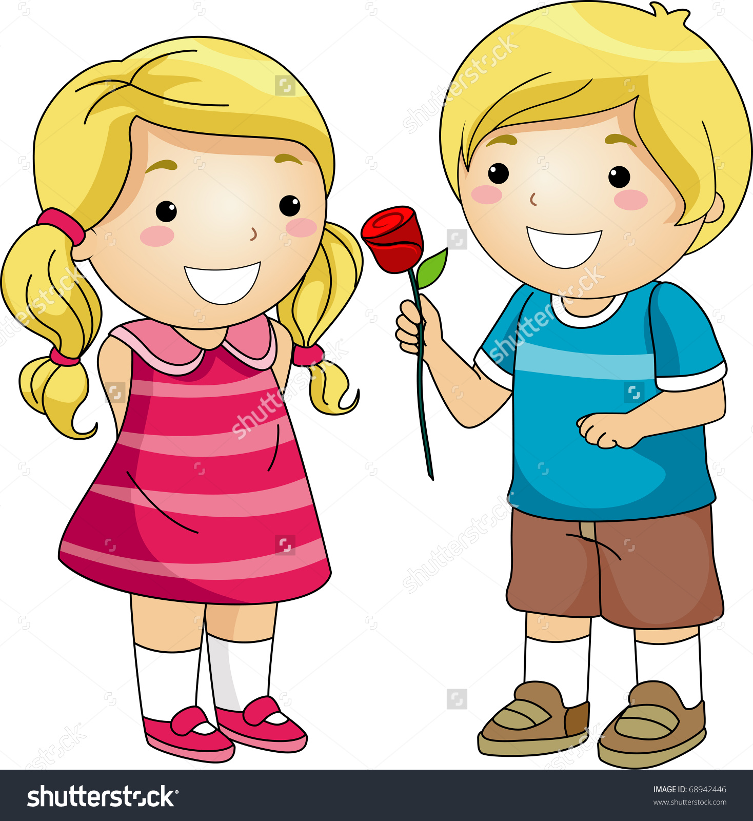 A boy giving a flower to a girl clipart jpg transparent download A boy giving a flower to a girl clipart - ClipartFest jpg transparent download