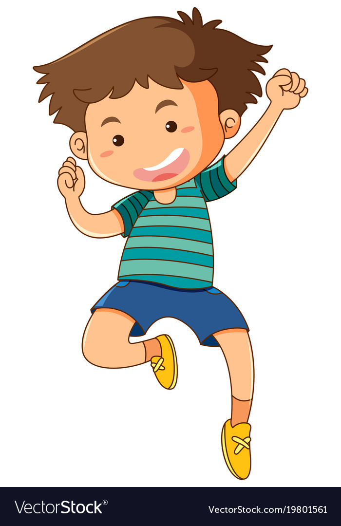A boy jumping clipart clipart free download Little boy jumping up on white background clipart free download