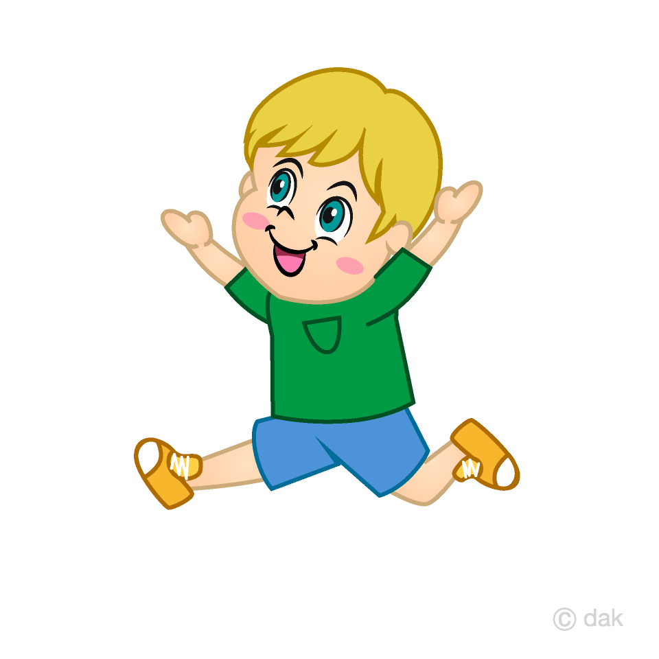 A boy jumping clipart graphic transparent Running and Jumping Boy Clipart Free Picture|Illustoon graphic transparent