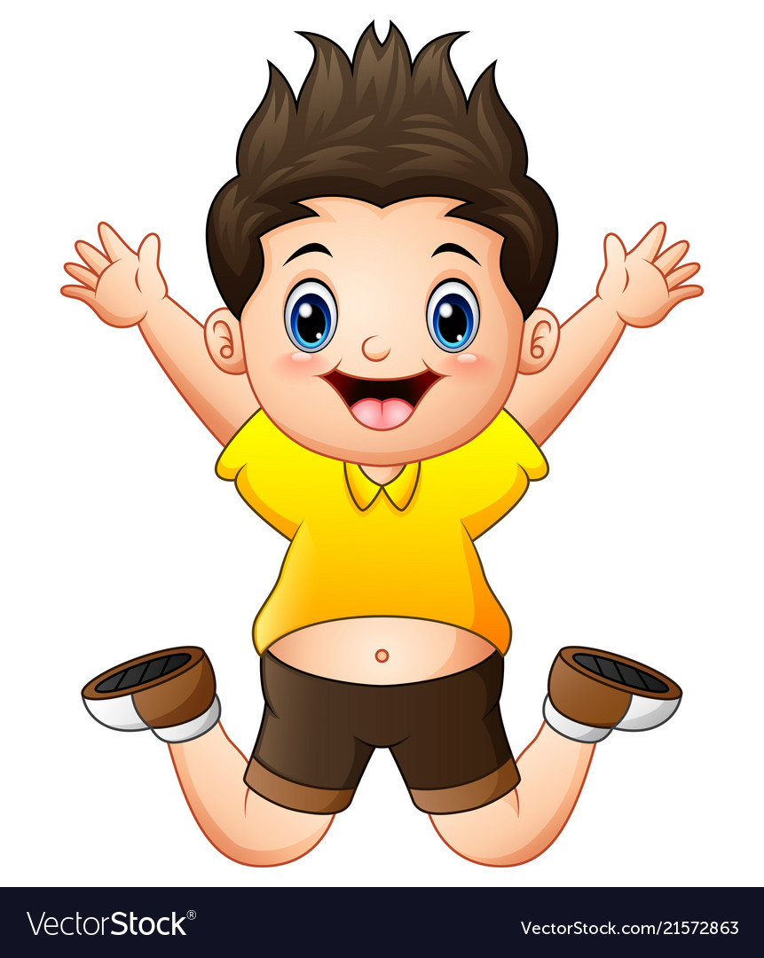 A boy jumping clipart image royalty free library Little happy boy jumping image royalty free library