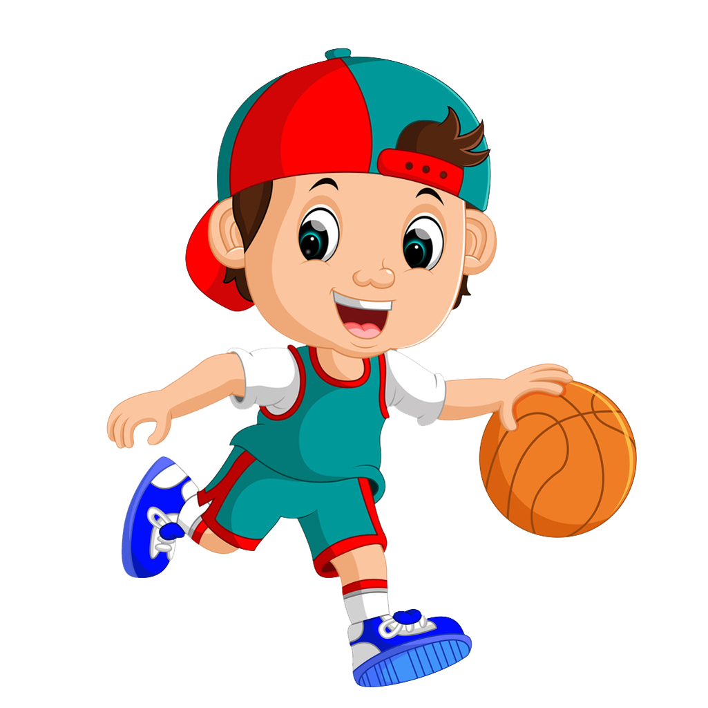 Cartoon boy with basketball clipart picture black and white library Basketball player Royalty-free Clip art - Playing basketball little ... picture black and white library