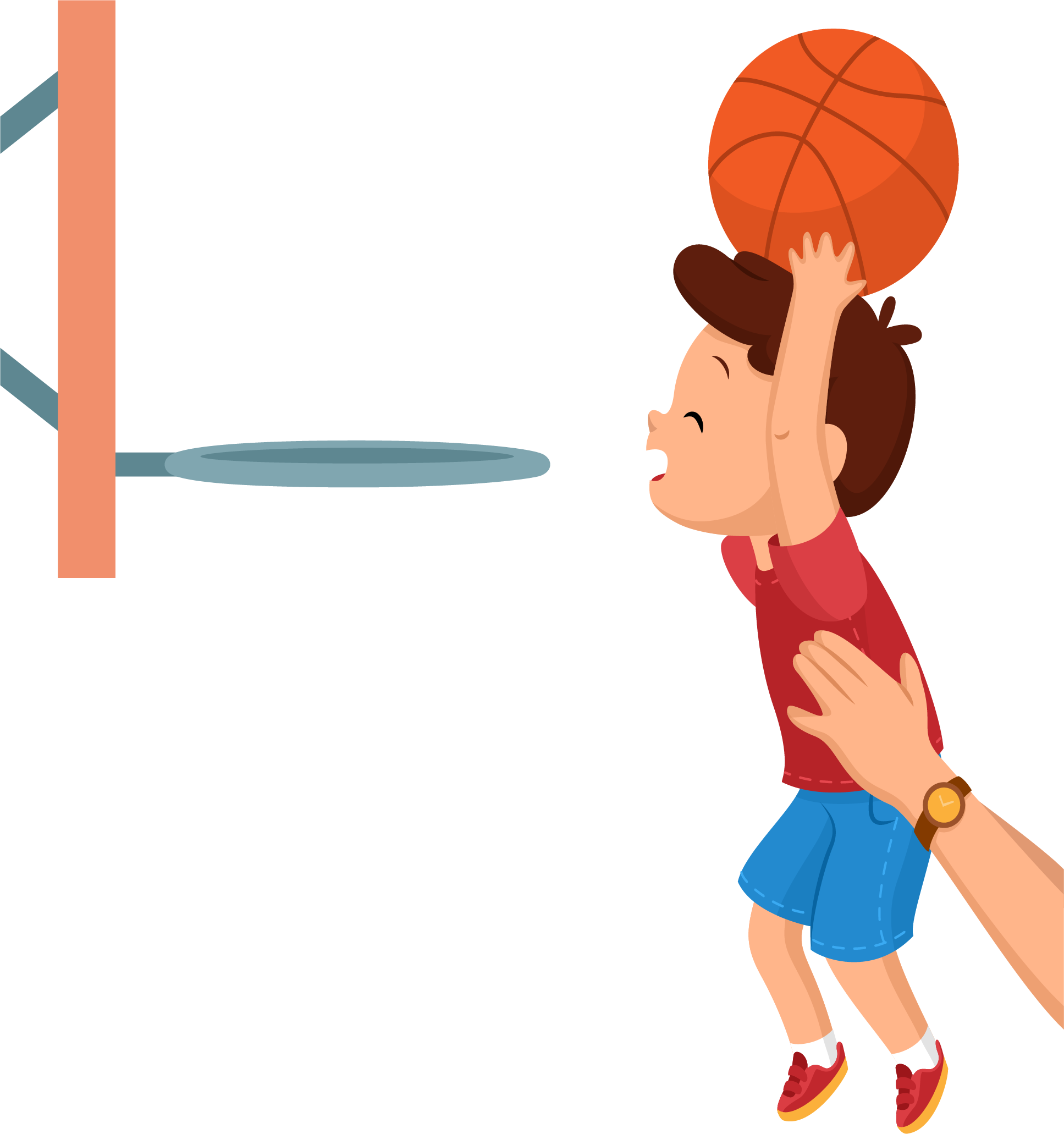 Cartoon boy with basketball clipart vector free download Basketball Backboard Clip art - Start learning basketball from the ... vector free download