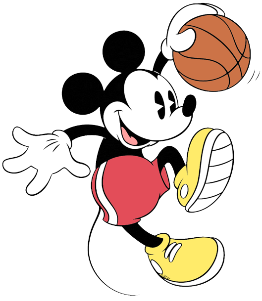 Red basketball clipart image black and white library Disney Basketball Clip Art | Disney Clip Art Galore image black and white library