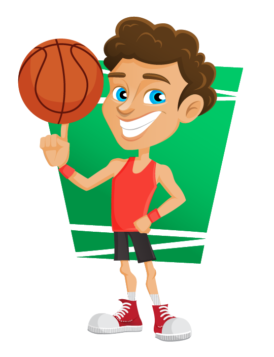 Girls and boys playing basketball clipart jpg black and white 28+ Collection of Basketball Players Clipart Png | High quality ... jpg black and white