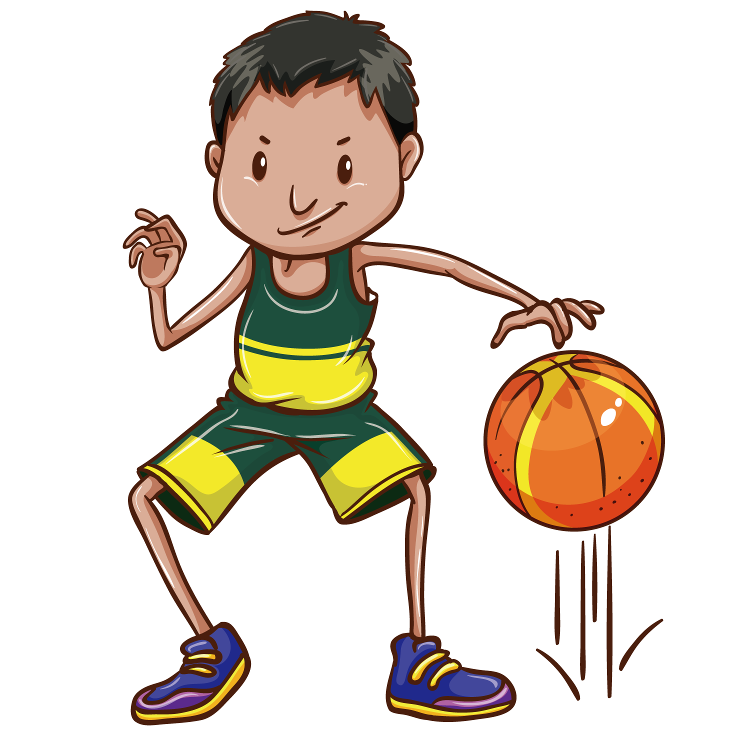 Girls and boys playing basketball clipart vector library Basketball Drawing Clip art - Basketball boy 1500*1500 transprent ... vector library