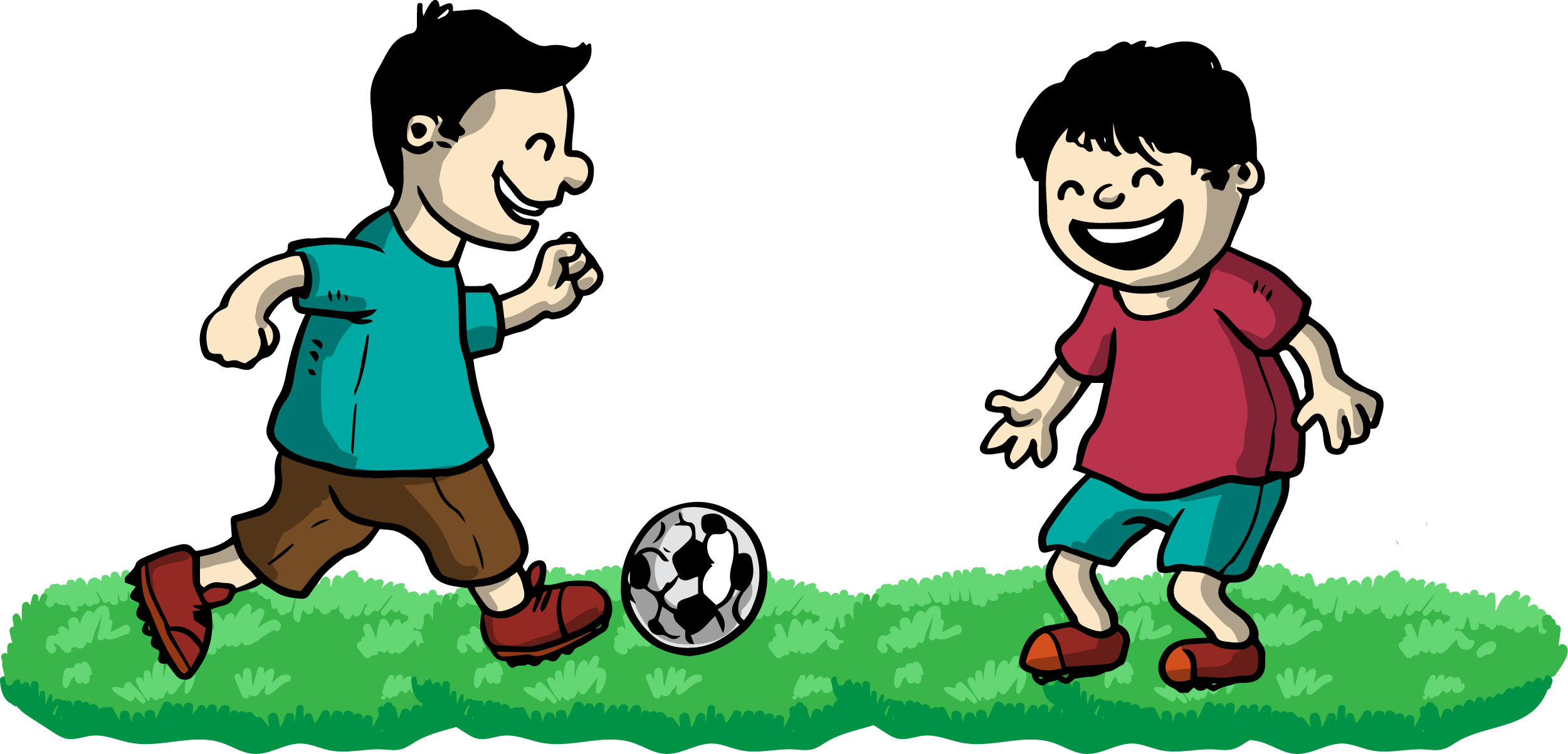 Boys playing football clipart clip black and white stock Friends Playing Clipart at GetDrawings.com | Free for personal use ... clip black and white stock