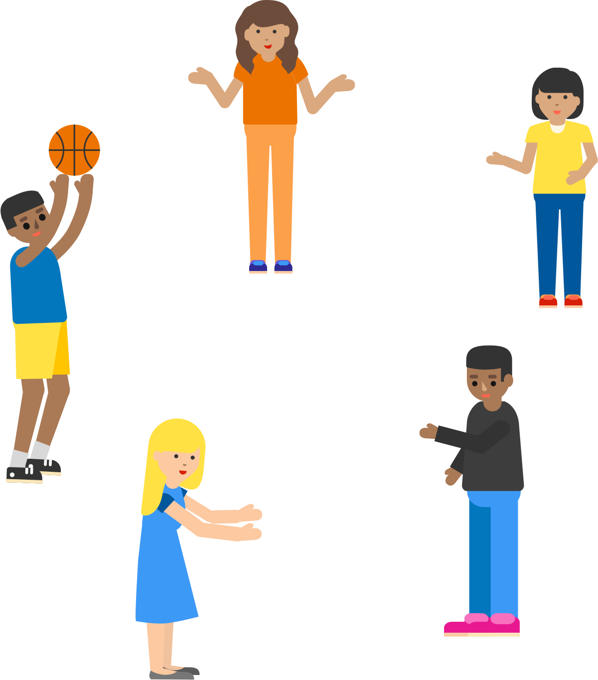 A boy playing basketball with his friends clipart clipart library stock Discrete Mathematics Problem: A Ball Passing Game - Daniel Xiang ... clipart library stock