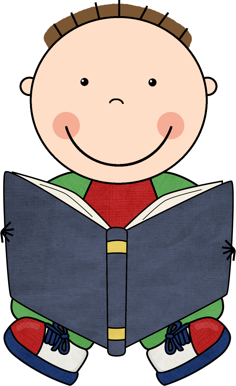 A boy reading a book clipart banner freeuse library Mrs. Randall's Learning Library | School | Pinterest | Clip art ... banner freeuse library