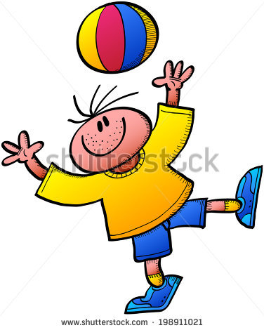 A boy throwing a ball to a boy clipart clip art free library Cool Boy Smiling, Wearing A Yellow Tee And Blue Shorts And Playing ... clip art free library