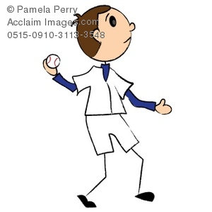 A boy throwing a ball to a boy clipart - ClipartFest jpg black and white library