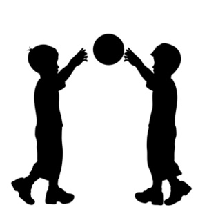 A boy throwing a ball to a boy clipart clip free library Boys Playing Ball Clipart Image - Boys throwing a ball back and forth clip free library
