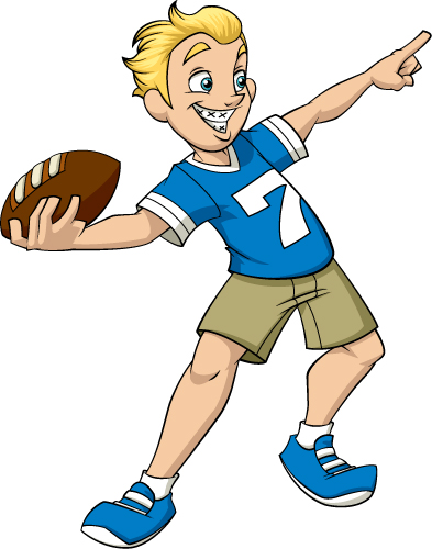 Boy Throwing Football Clipart - The Cliparts image stock