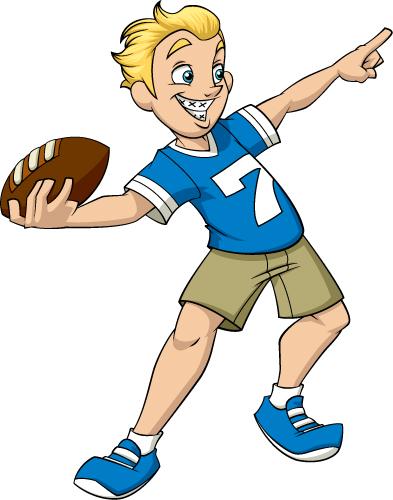 A boy throwing a ball to a boy clipart image stock Boy Throwing Football Clipart - The Cliparts image stock