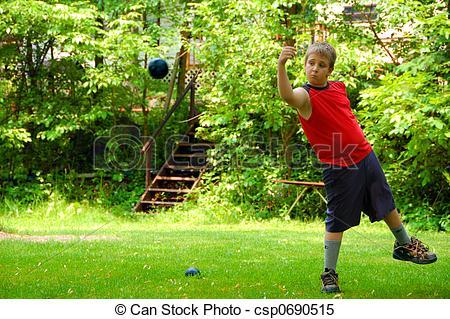 A boy throwing a ball to a boy clipart - ClipartFox vector stock