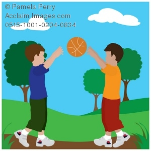 A boy throwing a ball to a boy clipart clip art freeuse Clip Art Illustration of Boys Throwing a Ball in the Park ... clip art freeuse