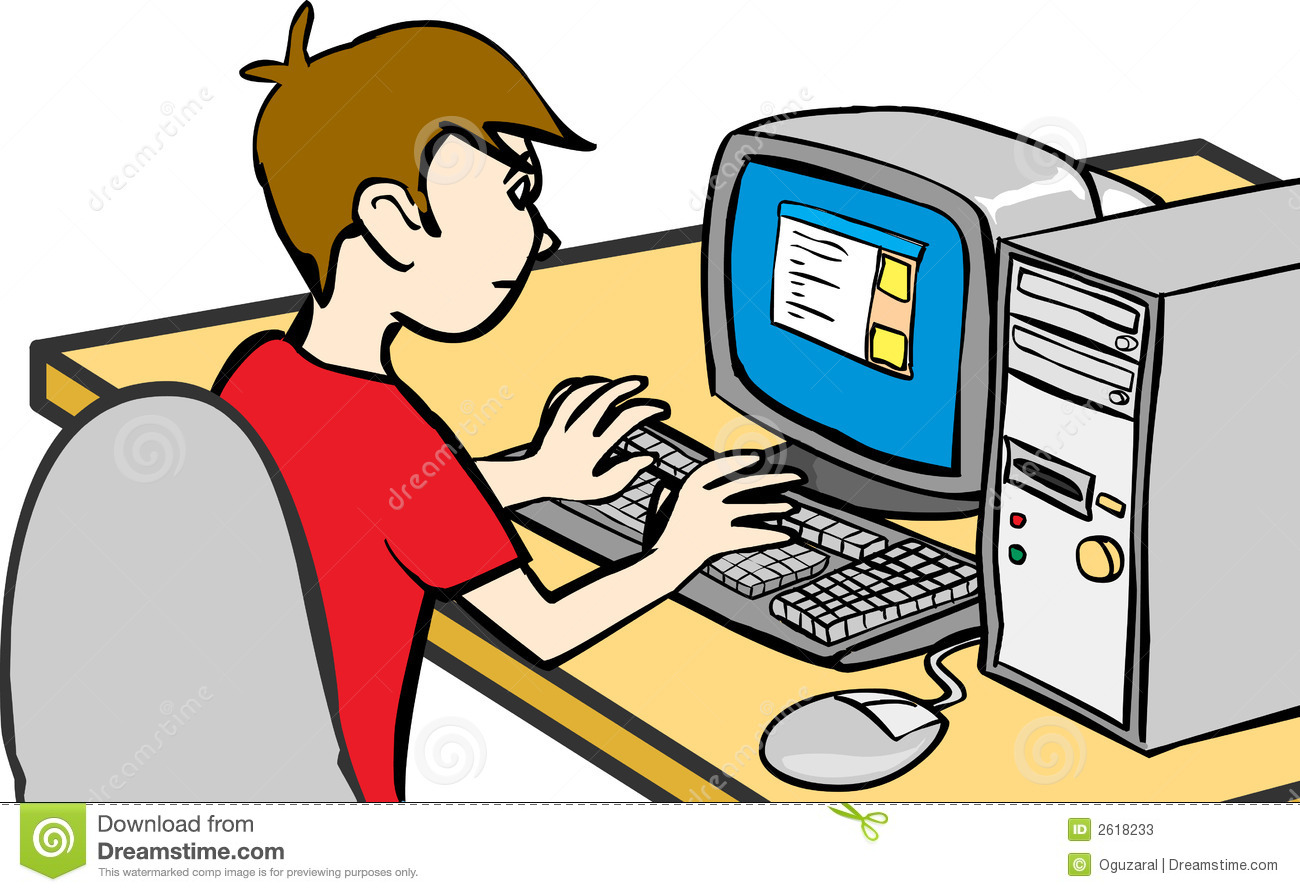 A boy using computer clipart clip art freeuse Kid On Computer Clipart | Free download best Kid On Computer Clipart ... clip art freeuse