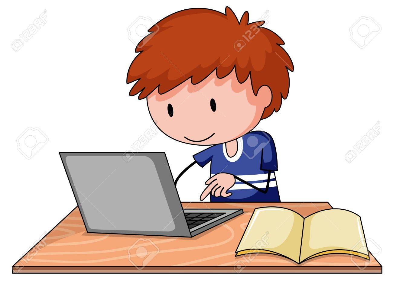 A boy using computer clipart clipart transparent stock Boy On Computer Clipart & Free Clip Art Images #24374 - Clipartimage.com clipart transparent stock
