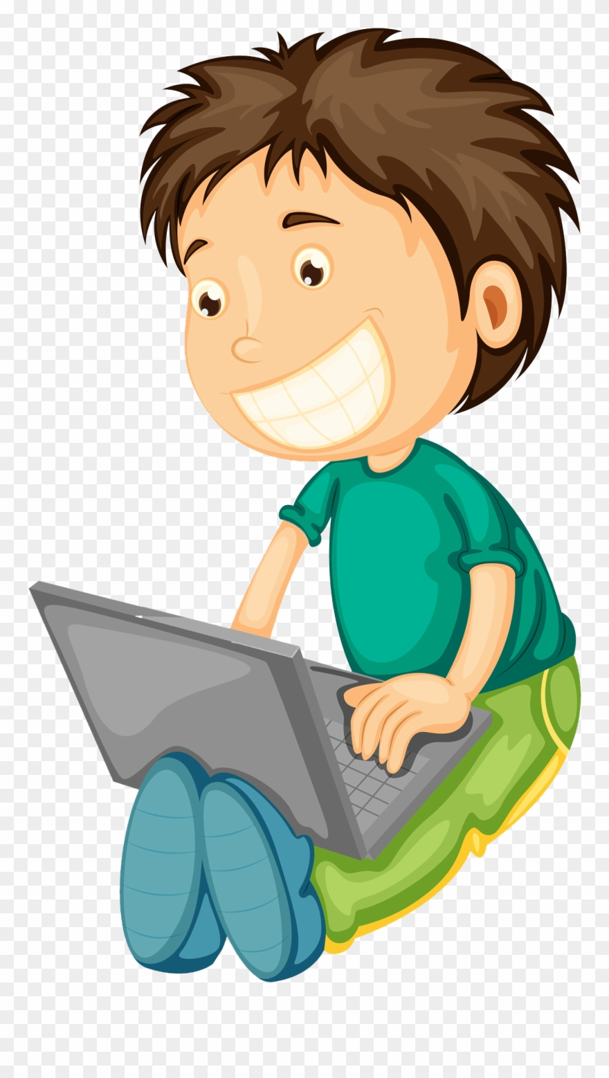 A boy using computer clipart picture royalty free stock Computer Boy Clipart - Boy And Girl On Laptop Clipart - Png Download ... picture royalty free stock