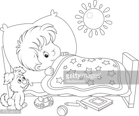 A boy waking up clipart black and white graphic transparent library Boy Waking UP premium clipart - ClipartLogo.com graphic transparent library