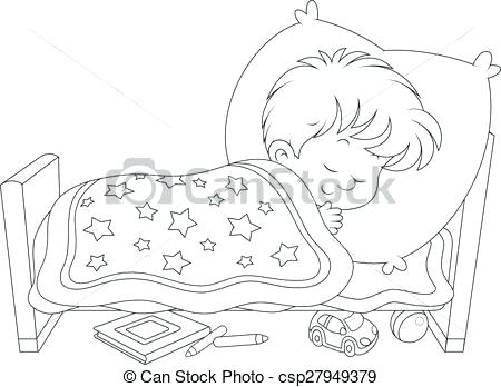 A boy waking up clipart black and white banner royalty free kid sleeping in bed clipart – rethinkih.org banner royalty free