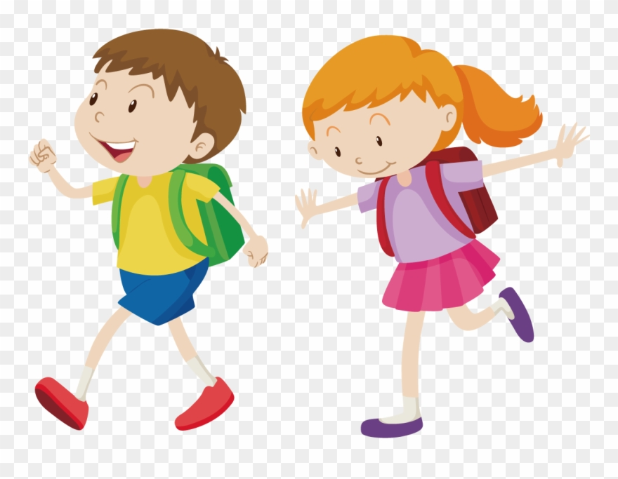 Free walking clipart image transparent stock Royalty-free Walking Boy Clip Art - Go To School Vector Png ... image transparent stock