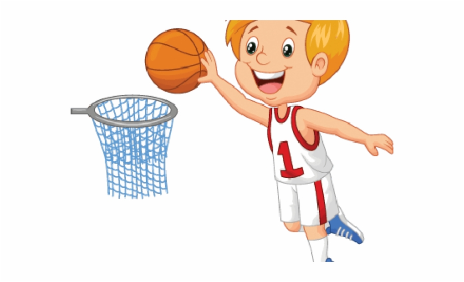 Boy playing ball clipart