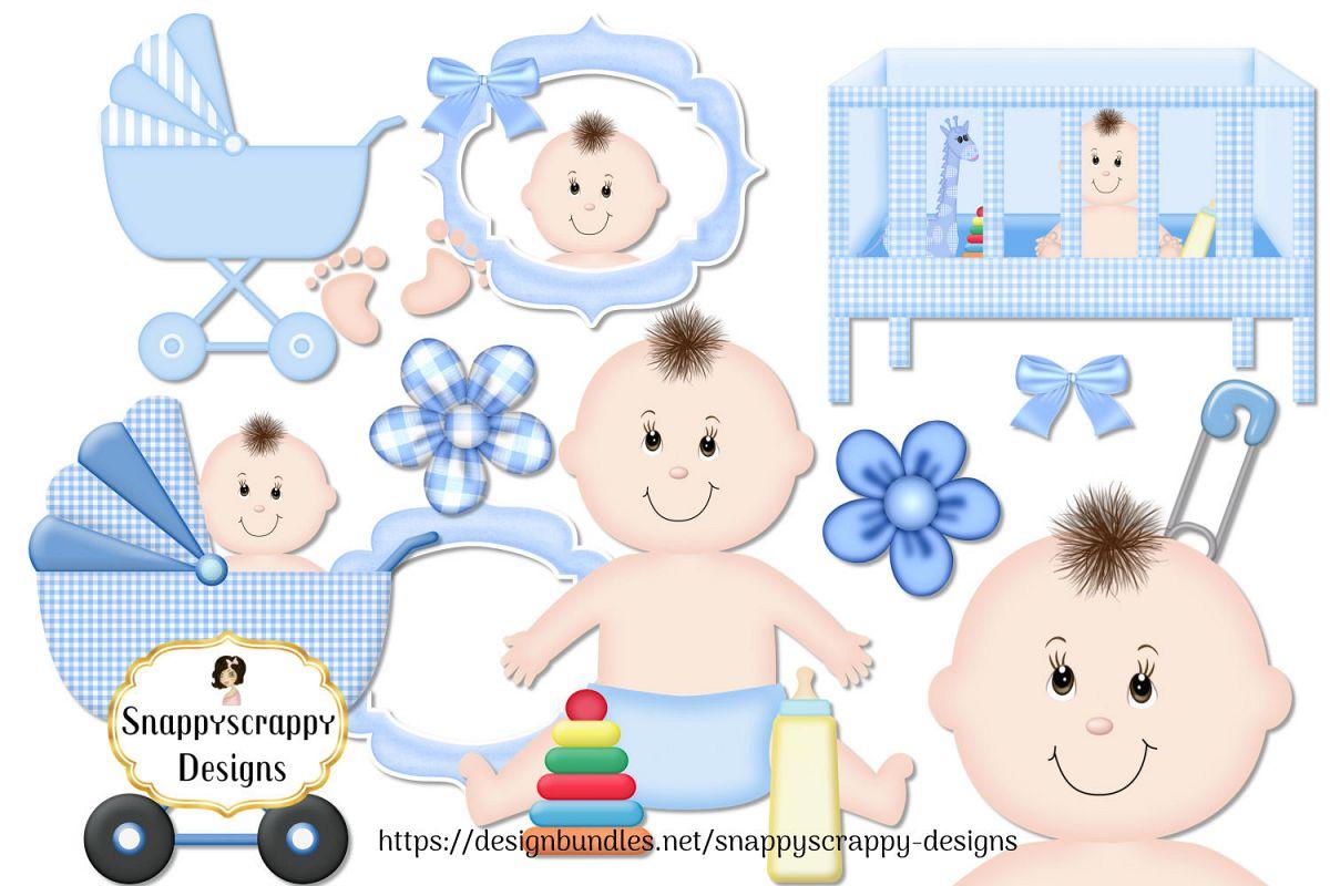 A boy with a net clipart jpg It\'s A Boy Clipart Set jpg