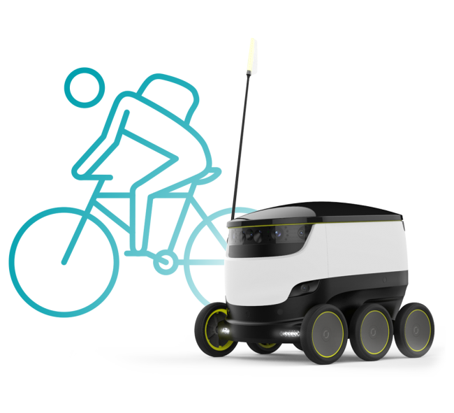 A boy with money with a wheel clipart vector stock This Robot Is Your Future Mail Carrier | The Mary Sue vector stock