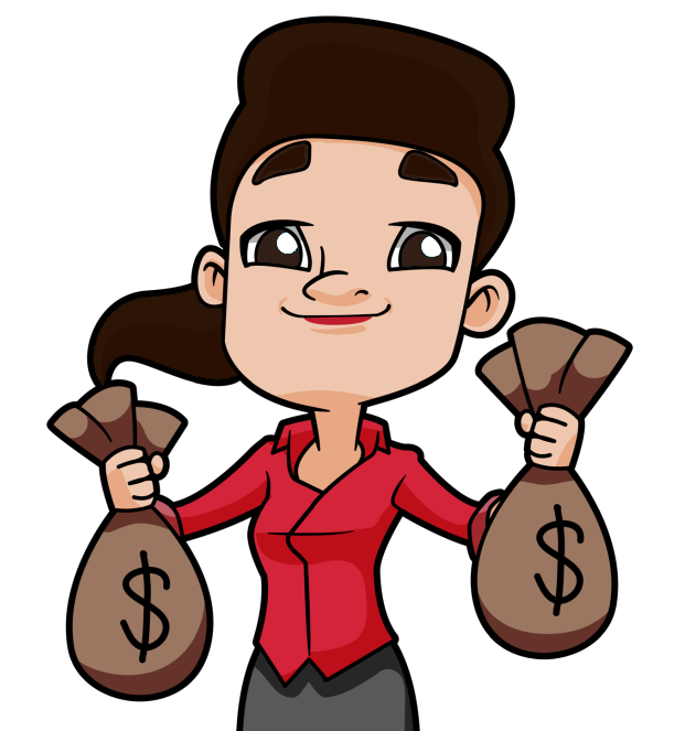 Woman carrying money clipart graphic freeuse asset store | I Code Like A Girl graphic freeuse