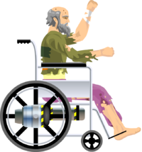 A boy with money with a wheel clipart graphic free Prelude | Wheelchair Guy vs. Qwop by PsyInsti on DeviantArt graphic free