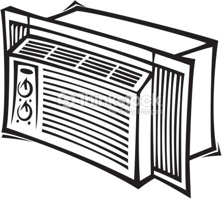 A c outside unit clipart black and white