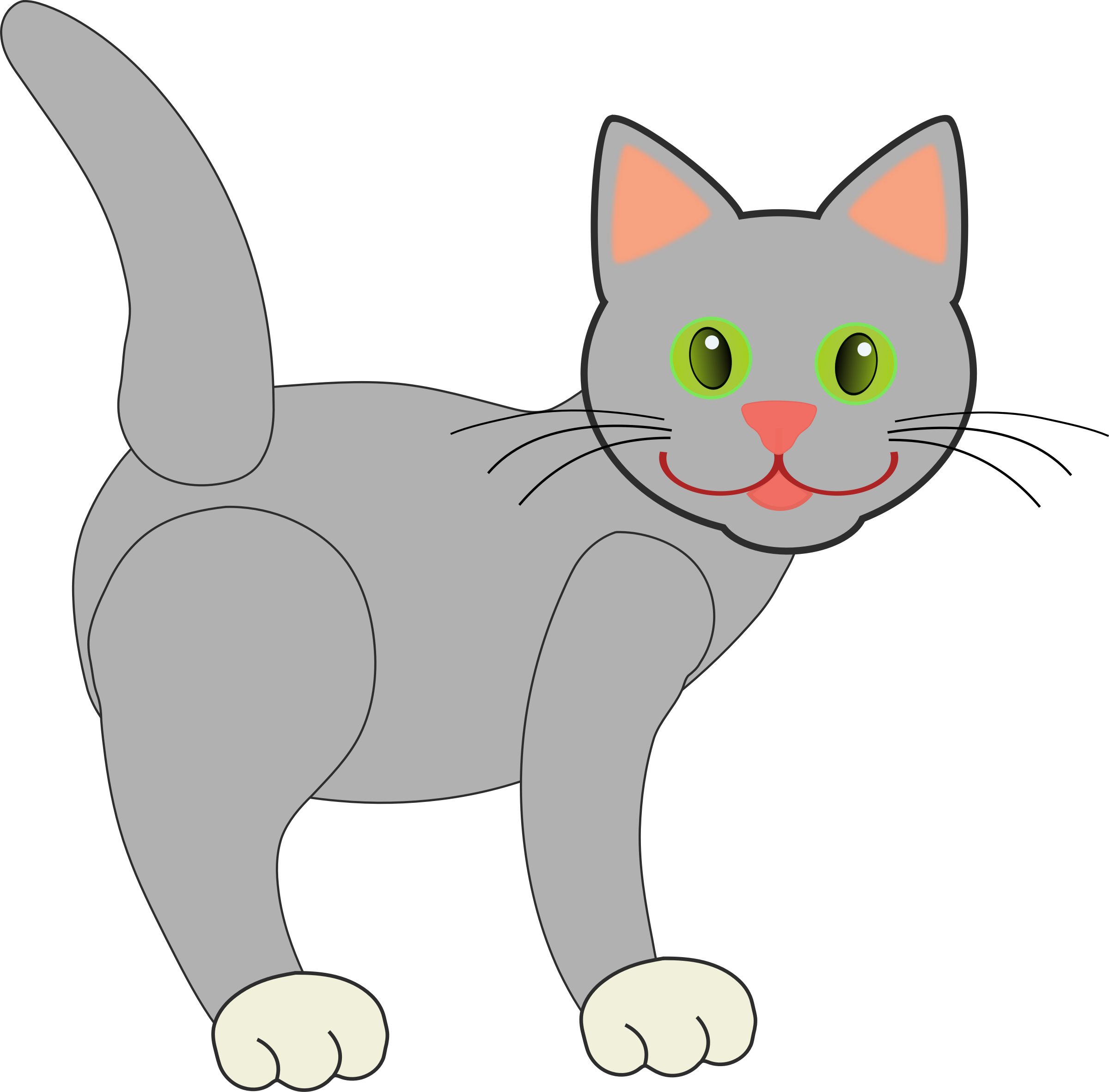 Grey cat clipart clip transparent download Clipart - Gray Cat clip transparent download