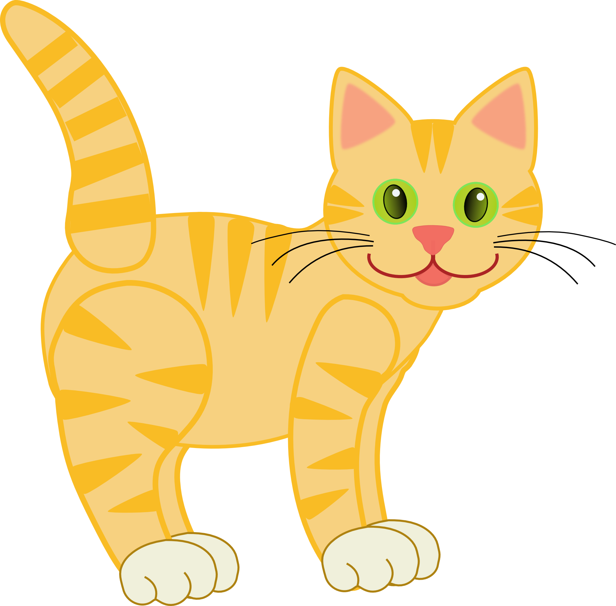 Free cute cat clipart png black and white stock Clip art version2 yellow tiger cat | 15.10.8 | Pinterest | Clip art ... png black and white stock