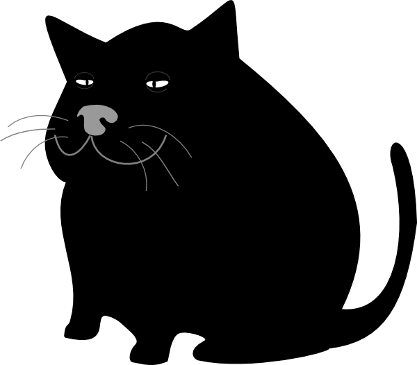 Walking cat clipart image freeuse Fat Cat Clipart (42+) Fat Cat Clipart Backgrounds image freeuse