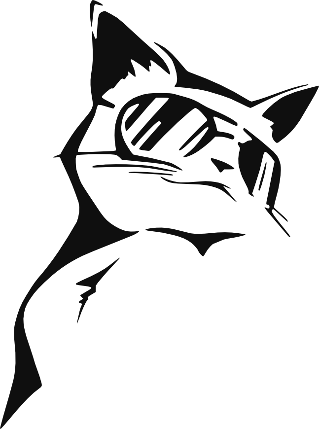 Cool cat black and white clipart picture royalty free Stencil CoolCat by 7eddy on deviantART | CAMEO | Pinterest ... picture royalty free