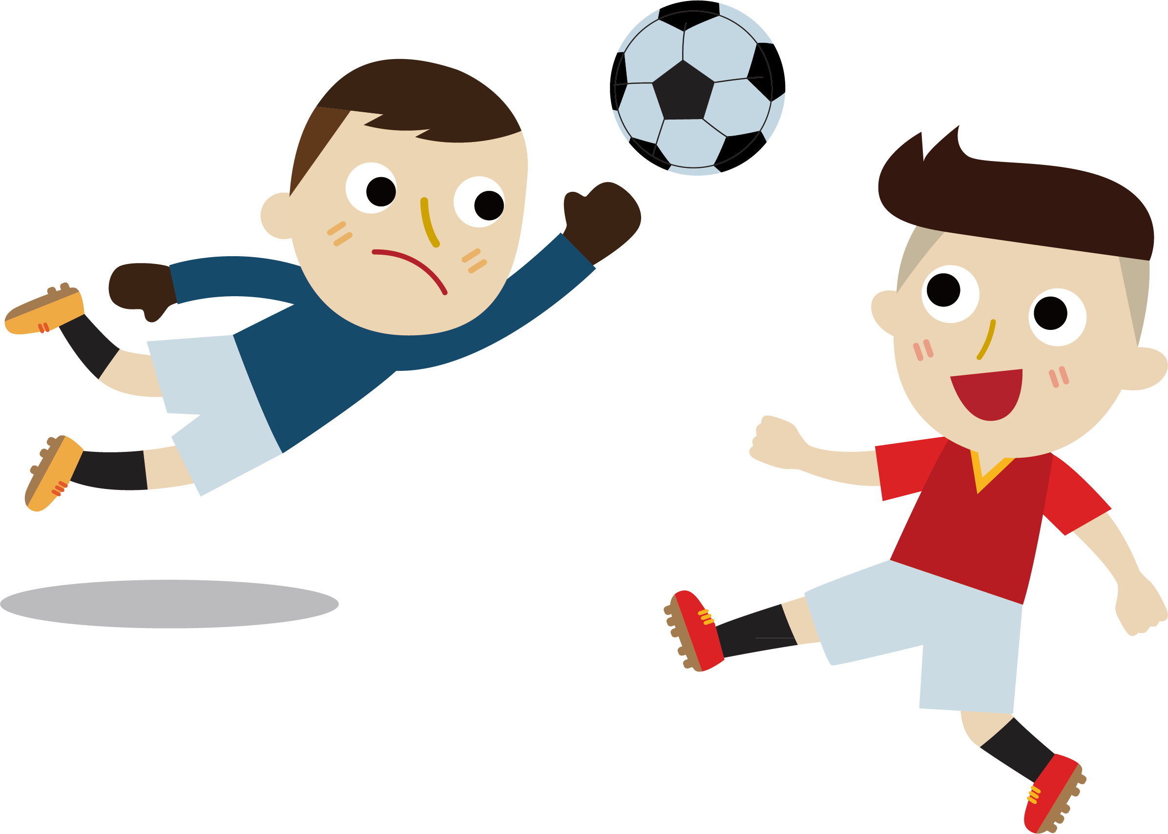 A child playing football clipart clipart free Football Cartoon Illustration - Child penalty by country 2392*1709 ... clipart free