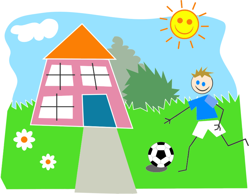 Out house clipart image freeuse stock Clipart - Boy Playing Soccer image freeuse stock
