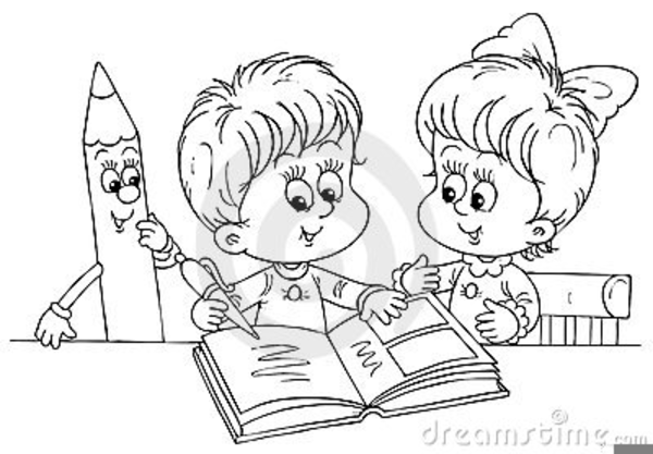 A child reading clipart black and white vector black and white stock Kids Reading Png Black And White & Free Kids Reading Black And White ... vector black and white stock